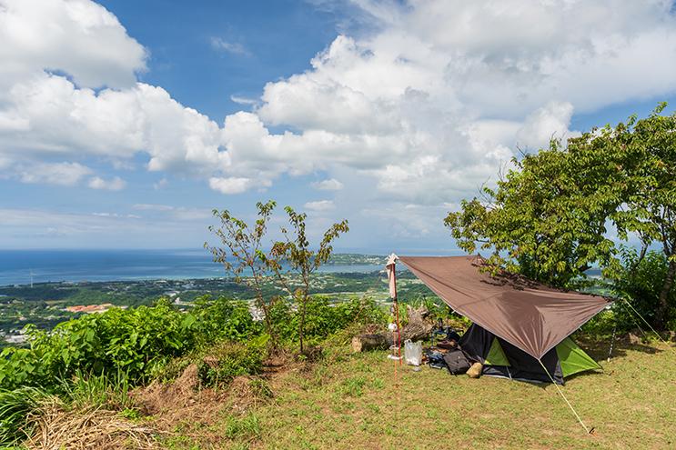 乙羽岳森林公園展望台北側キャンプサイト